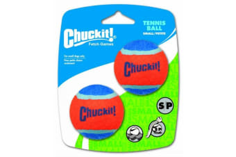 Red & Blue Small Chuck It Tennis Ball for Dogs -2 Pack - 5cm (ChuckIt)