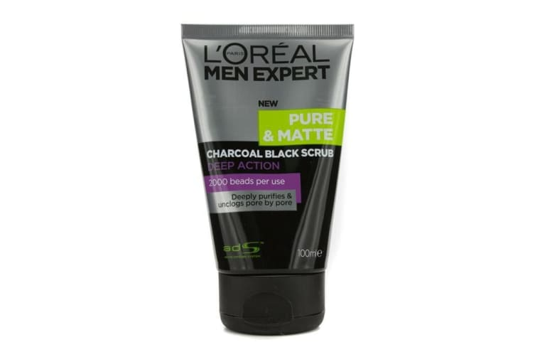 L'Oreal Men Expert Pure & Matte Charcoal Black Scrub 100ml
