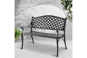 Garden Bench Seat Patio Park Lounge Cast Aluminium Outdoor Furniture