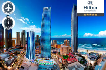 GOLD COAST: 5 Nights at Hilton Surfers Paradise Residences Including Flights for Two