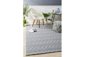 Ryder Denim & Grey Wool Textured Rug