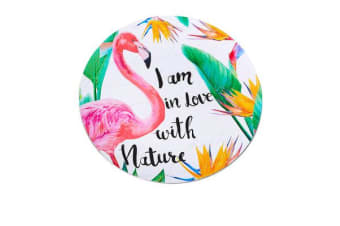 Kitchen Warehouse Summer Charger Plate 33cm Flamingo