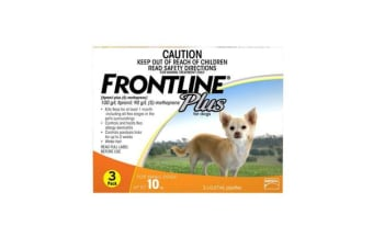 Frontline Plus Dog Small Orange - 6p