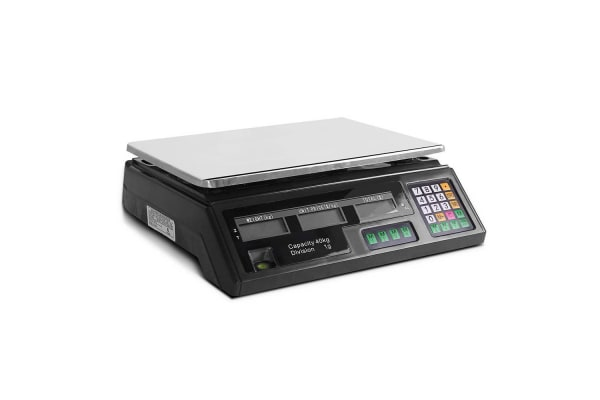 Electronic Computing Platform Digital Scale 40kg (Black)