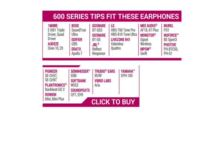 Comply T-600 Isolation Series Replacement Earphones In-Ear Foam Tips Most Brands