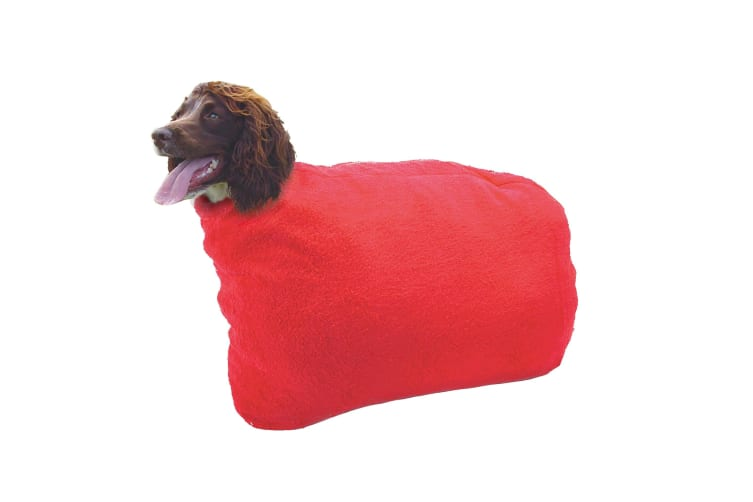 Pennine Dry Dog Bag (Red) (35cm neck)
