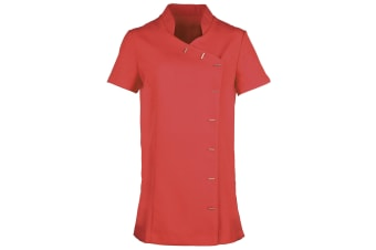 Premier Womens/Ladies *Orchid* Tunic / Health Beauty & Spa / Workwear (Pack of 2) (Strawberry Red) (6)