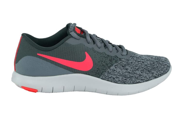 Nike Women's Flex Contact Running Shoes (Cool Grey/Solar Red/Anthracite, Size 6 US)