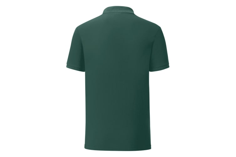 Fruit Of The Loom Mens Iconic Pique Polo Shirt (Forest Green) (XXL)