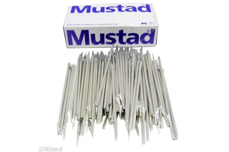 1 Box of 100 x Mustad 455D 1 Barb Fishing Spear Heads - 132mm Replacement Spears