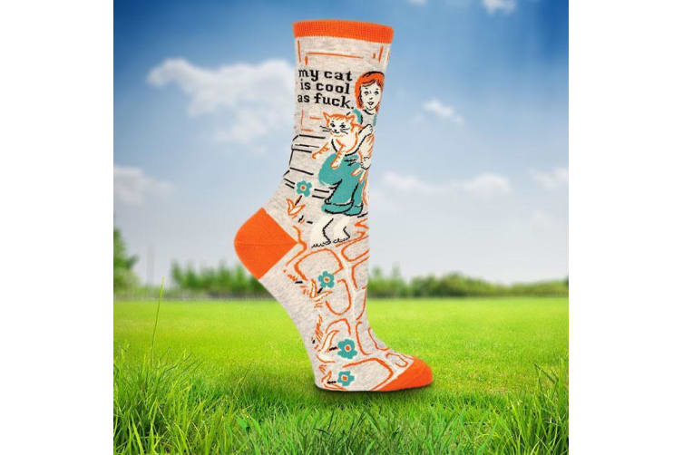 Socks For Crazy Cat Ladies - My cat is cool as f#ck