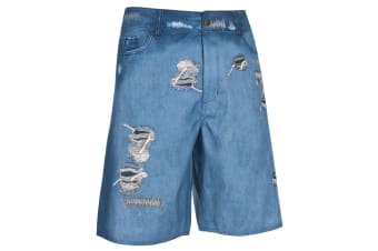 Trespass Mens Kohada Swimming Shorts/Trunks (Denim Print)