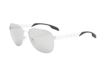Prada PR51RS 60mm - Aluminium Light Grey (Mirror Silver lens) Mens Sunglasses