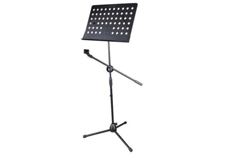 Boom Microphone Stand Sheet Music Holder Tripod Mic Dj Stage Music Gear Black