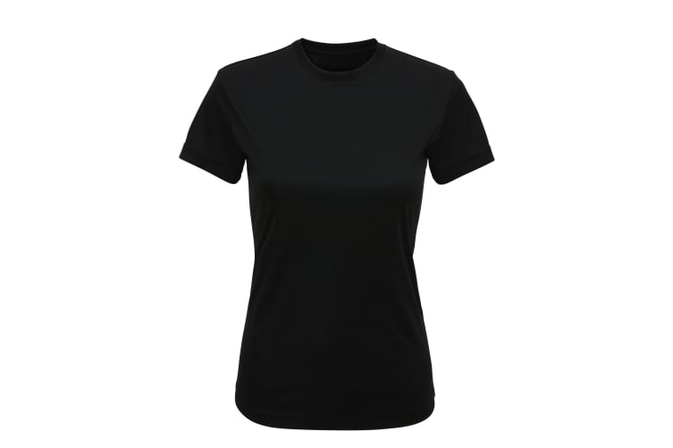 Tri Dri Womens/Ladies Performance Short Sleeve T-Shirt (Black) (S)