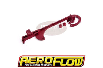 Aeroflow Billet Throttle Cable Bracket Red Suits 4150 Style Carbs