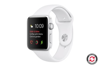 Apple Watch Series 2 Refurbished (Silver, Aluminium, 38mm, Sports White) - A Grade