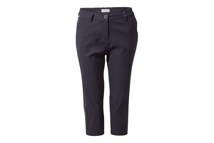 Craghoppers Womens/Ladies Kiwi Pro Crop Trousers (Dark Navy) (14 UK)