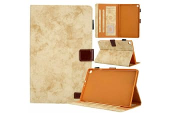 For Galaxy Tab S5e 10.5 T720 T725 Tablet Flip leather Stand Cover Case-Khaki
