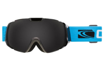 Carve Platinum Gloss Black Grey Lens Goggles