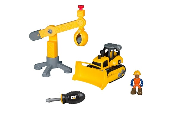 CAT Construction Junior Work Site Bulldozer & Crane