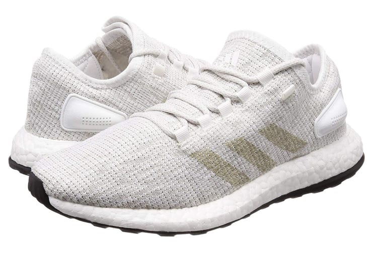 Adidas Men's PureBOOST Running Shoe (White/Grey, Size 9.5 UK)