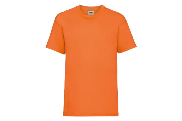 Fruit Of The Loom Childrens/Kids Unisex Valueweight Short Sleeve T-Shirt (Pack of 2) (Orange) (7-8)