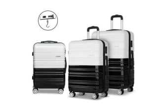 Wanderlite 3 Piece Luggage Trolley Set – (Black) and (White)