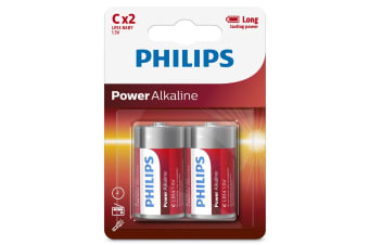 Philips Alkaline Battery 2 x C - 12 Pack