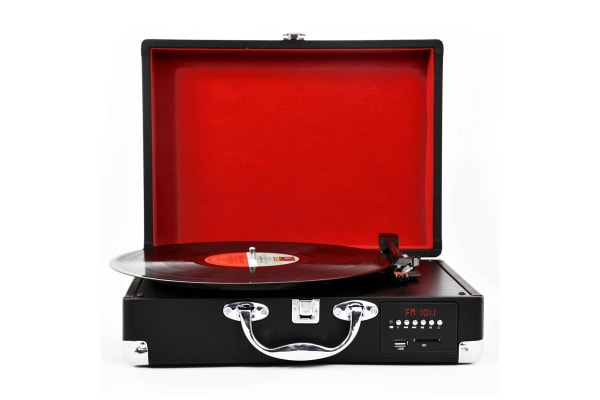 Lenoxx Suitcase Turntable with FM Radio and USB/SD (TT620)