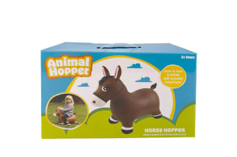 Animal Hopper Kids Fun Bounce Jumping Outdoor w/Handle Ride On Toy Horse 3+