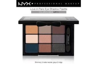 Nyx Love In Paris Eye Shadow Pallette #Lip11 You Are In Seine Natural Smokey
