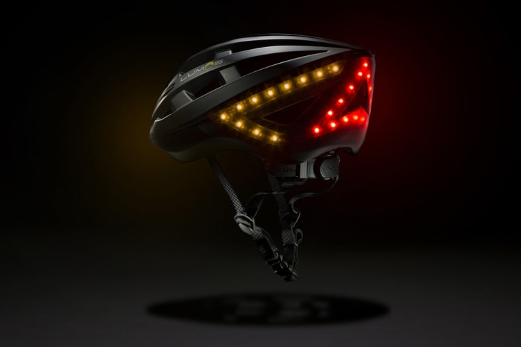 Lumos Smart Helmet with Built-In Lights and Indicators (Charcoal Black)