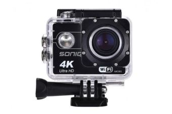 SONIQ DEFY AAC001 Action Camera and Accessories Kit 4K 30fps Waterproof, Sport, Outdoor, Adventure