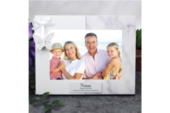Personalised Nan Photo Frame 5x7 Butterfly