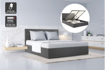 Ovela Bed Frame - Tenby Gas Lift Collection (Slate Grey)