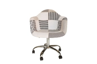 Replica Eames DAW / DAR Desk Chair | Multicoloured Patches V3 Fabric Seat