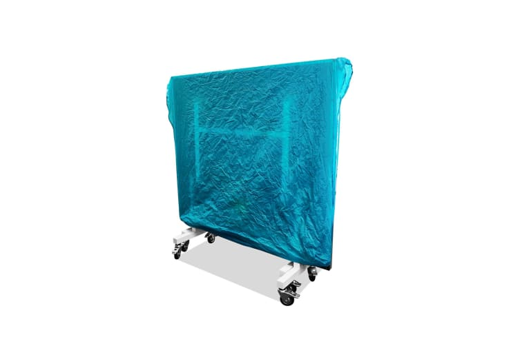 T&R sports Indoor Multifunctional Cover for Table Tennis Table Protection Cover for Ping Pong Table for Upright or Flat Position, Green