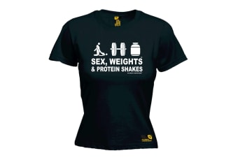 SWPS Gym Bodybuilding Tee - D3 - Black Womens T Shirt