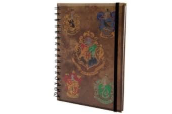 Harry Potter House Crests Notebook (Multicoloured) (One Size)