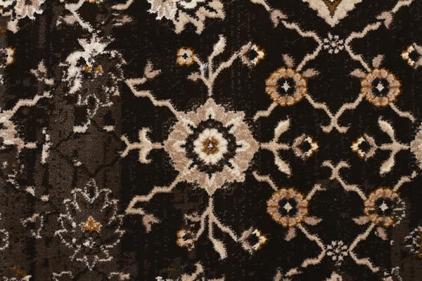 Royal Kashan Designer Rug Chocolate Brown 290X200cm