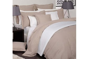 Ascot Pebble Super King Quilt Cover Set by Platinum Collection