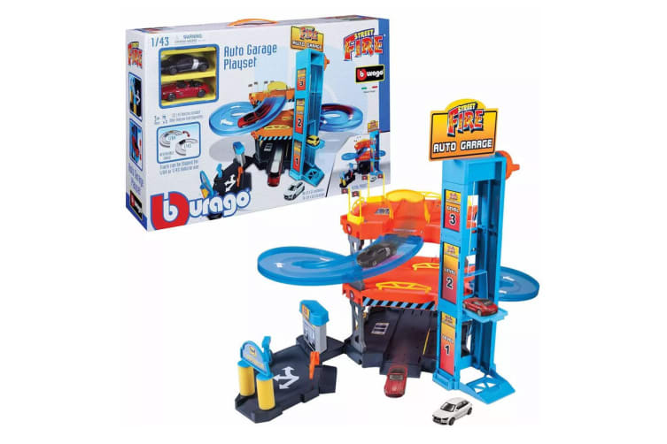 Bburago 1:43 Auto Garage w/ 2 Vehicle Cars Kids/Child 3y+ Acivity Play Game/Toys