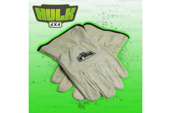 HULK LEATHER RECOVERY RIGGERS GLOVES WINCH SNATCH CABLE ROPE PROTECTION 4X4 4WD