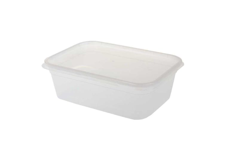 4 x 2000ML TAKE AWAY CONTAINERS with LIDS DISPOSABLE PLASTIC FOOD CONTAINER 2L WMCV