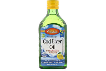 Carlson Labs Wild Norwegian Cod Liver Oil, Natural Lemon Flavour - 1,000mg 250ml