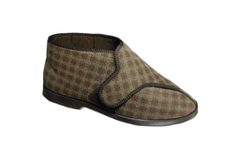GBS Keswick Touch Fastening Bootee / Mens Slippers / Mens Bootee (Brown)