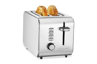 Cuisinart CPT-5A 2-Slice Bread Bagel Toaster Heat Cancel Defrost Stainless Steel