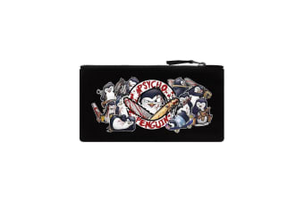 Psycho Penguin Collection Pencil Case (Black) (One Size)