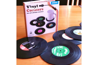 6x Creative Vinyl Record Cup Coaster Glass Drink Holder Place Mat Tableware Home